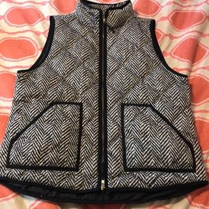 Used, J Crew excursion vest in herringbone for sale